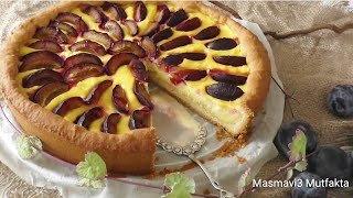 Yapımı Kolay Nefis Mürdüm  ERİKLİ Pasta &Tart  Tarifi ▪Masmavi3 Mutfakta▪
