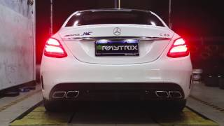 Mercedes-Benz C63 AMG W205 w/ Armytrix Valvetronic Exhaust in static! Loud REVS!