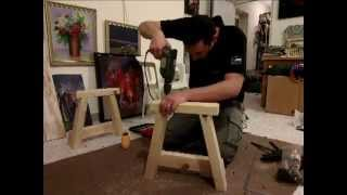 building a wood bench 4 minutes time lapse.