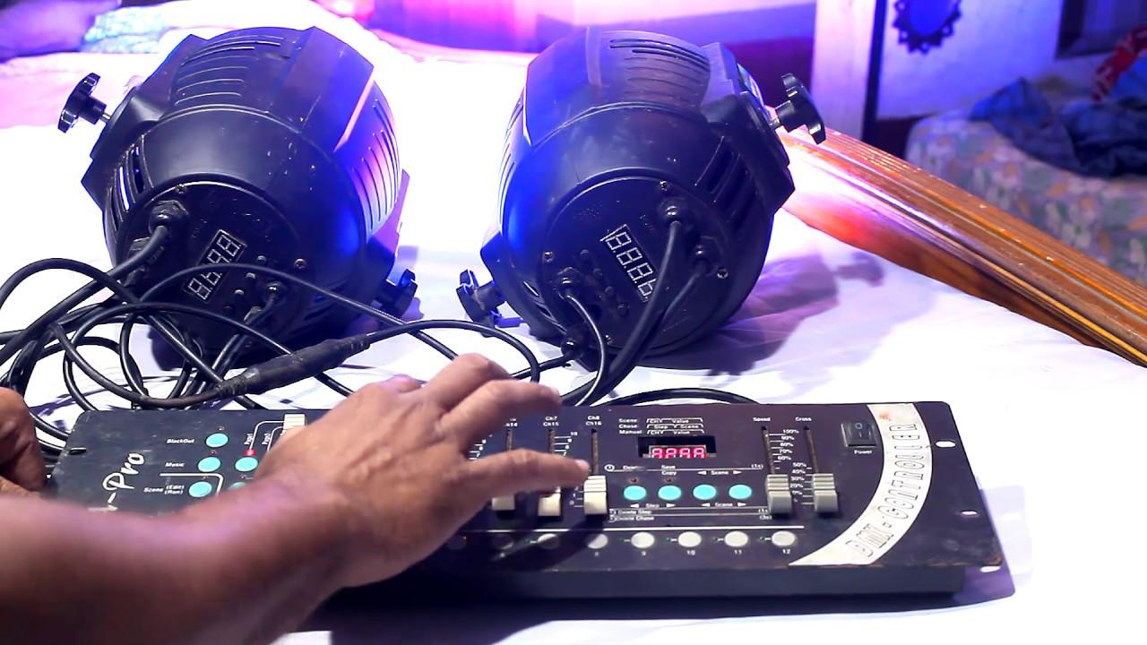 How To Setup DMX 512 Controller and LED Par Light / DMX 512, LED PAR / TECH  & TECHNIQUES # IN HINDI