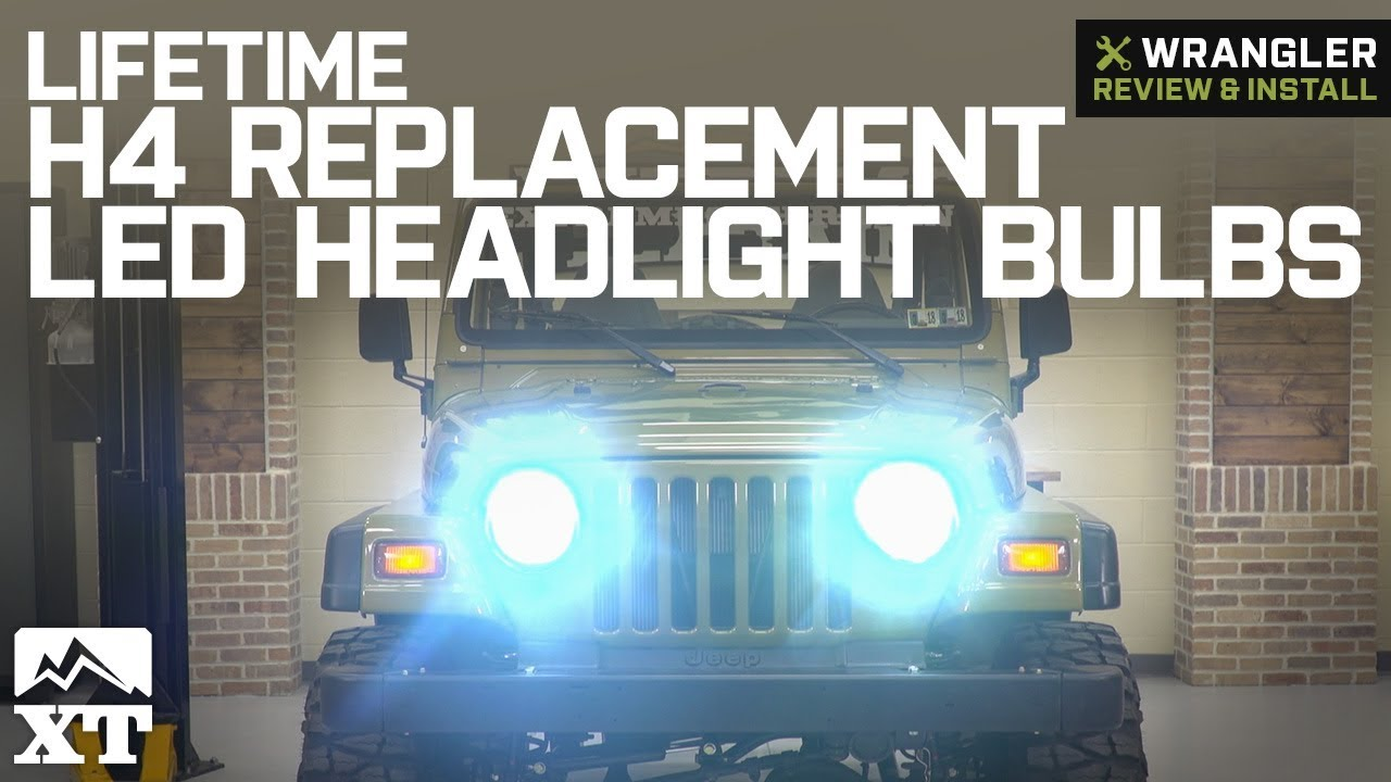 Jeep Wrangler Lifetime H4 Replacement Led Headlight Bulbs 1987 2006 Yj Tj Review Install