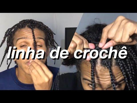 BOX BRAIDS MASCULINO EM CASA - Tranças com linha de crochê