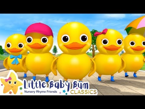 Five Little Ducks On a Bus + More Nursery Rhymes & Kids Songs - Little Baby Bum
