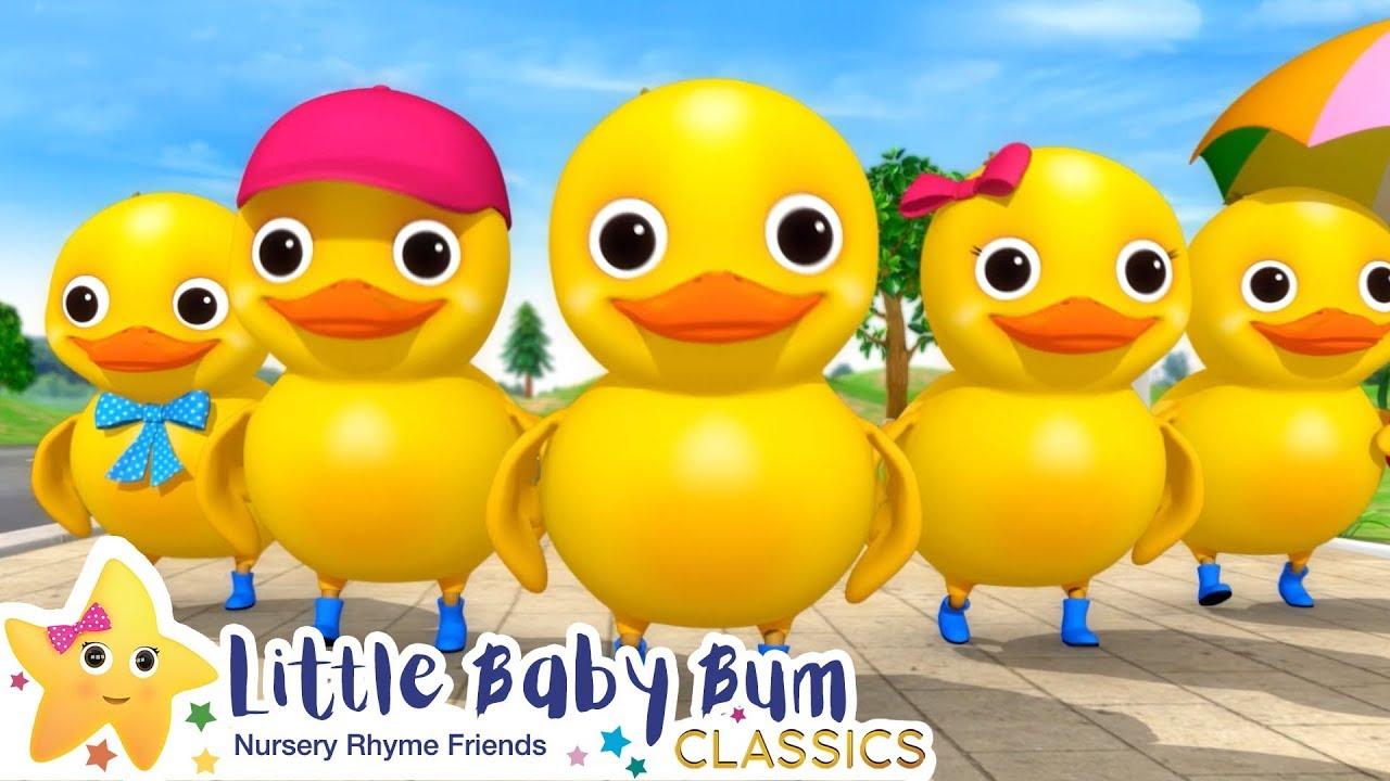 Five Little Ducks On a Bus + More Nursery Rhymes & Kids Songs - Little Baby Bum