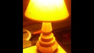 Wood Turning A Table Lamp