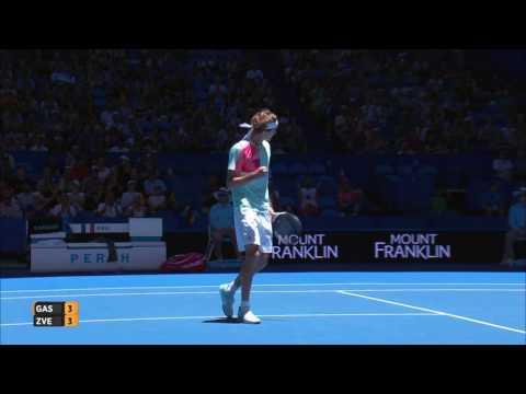 Richard Gasquet v Alexander Zverev highlights (RR) - Mastercard Hopman Cup 2017