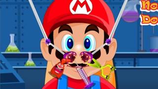 マリオの鼻の中で遊びだす天才外科医