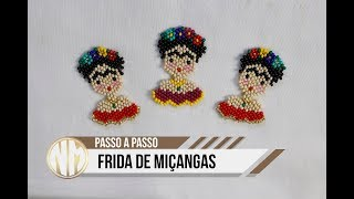Frida de Miçangas - passo a passo