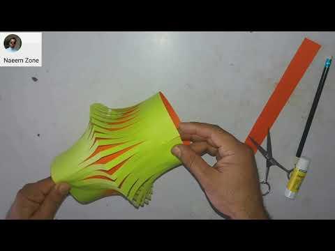 Paper kandil/  How to make paper Lantern Diy paper Lamp......