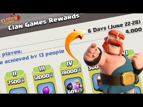 Coc Upcoming Clan Games Reward June 2019 With Boosted Challenges