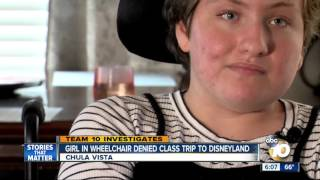 Girl in wheelchair denied class trip to Disneyland thumbnail