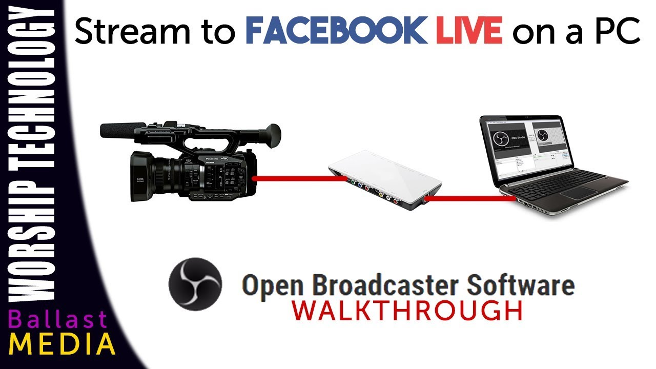 Use an external camera to stream on Facebook Live, PC and OBS Walkthrough