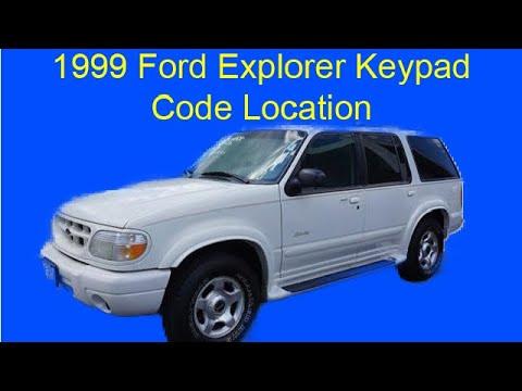 1999 Ford Explorer Keyless Entry Code Location