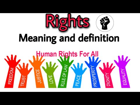 Rights meaning and definition