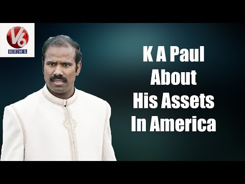 K A Paul About His Assets In America || V6 Exclusive Interview || V6 News