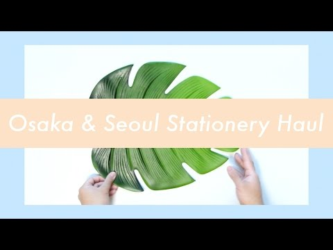 Osaka & Seoul Stationery Haul | Job's Journal