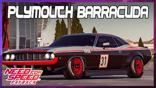 Need for Speed Payback Car Customization Plymouth Barracuda