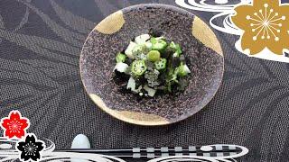 Салат ямса с Нори и с бАмией✿рецепты японской кухни