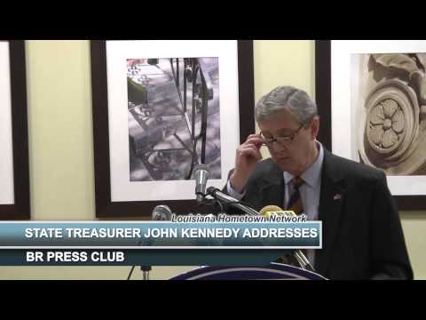State Treasurer John Kennedy Addresses BR Press Club