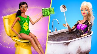Rich Doll vs Broke Doll / 12 DIY Barbie Ideas