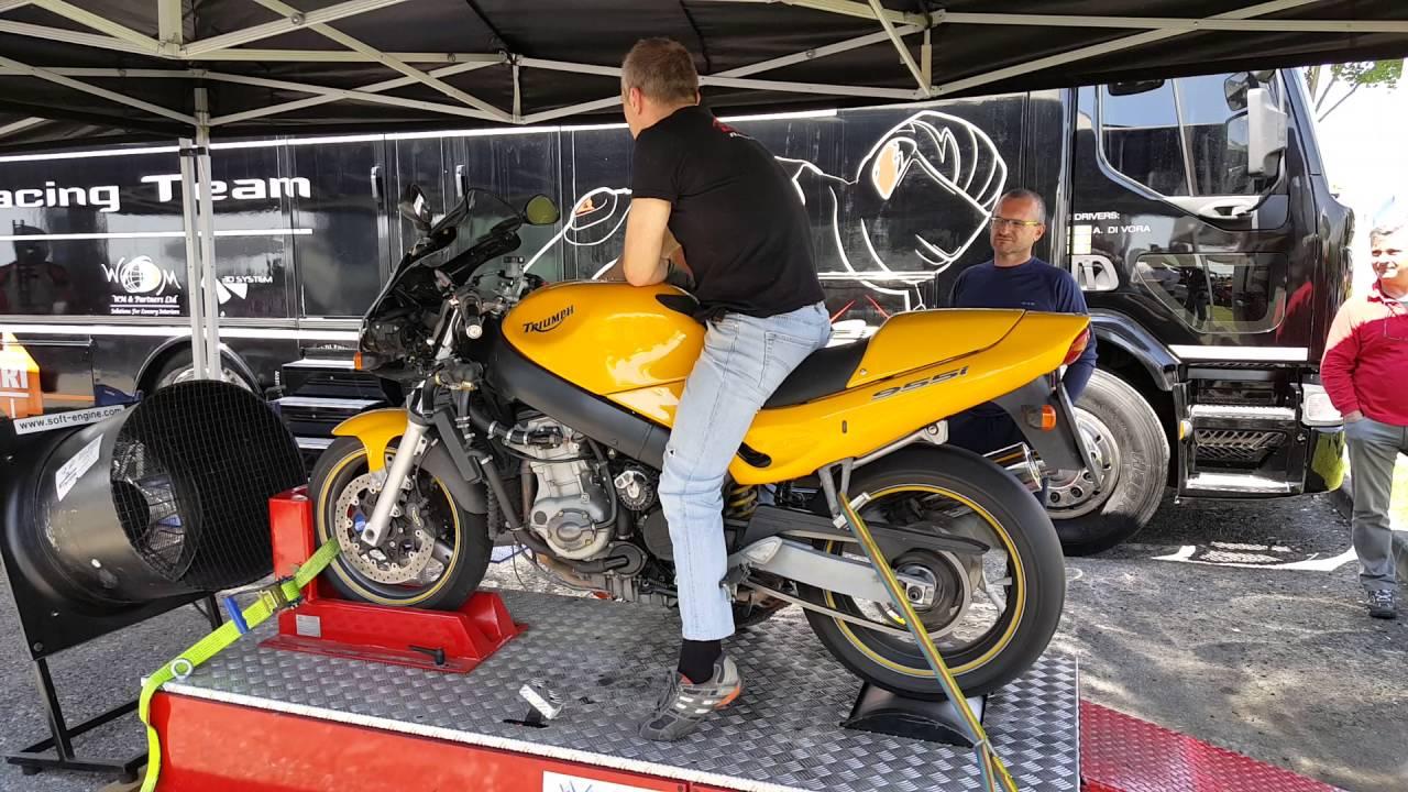 triumph sprint rs 955i dyno test - youtube