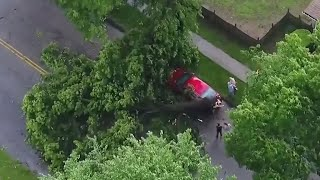 Severe storms slam the Northeast