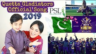 Quetta Gladiators Official Song 'We The Gladiators' | DJ Bravo and Team Gladiators | Kids Reaction