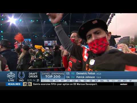 Roger Goodell Gets Booed By Cleveland   2021 NFL Draft