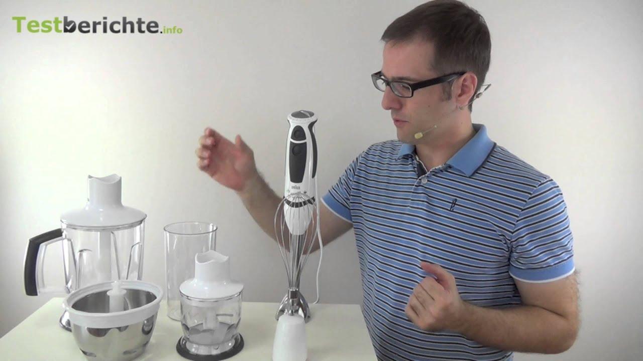 Braun Multiquick 5 Stabmixer im Test  YouTube