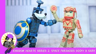 Minimates Kingdom Hearts Series 2 Space Paranoids Goofy and Sark Review
