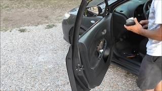 2008 Toyota Corolla How to remove door panel Αφαίρεση πλαισίου πόρτας