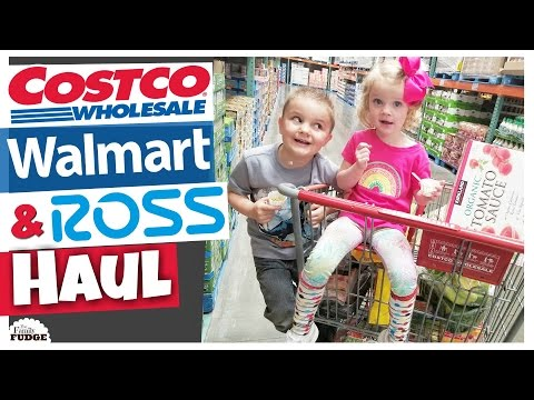 COSTCO, WALMART & ROSS HAUL || $420 Family of 6 || Food & Clothes
