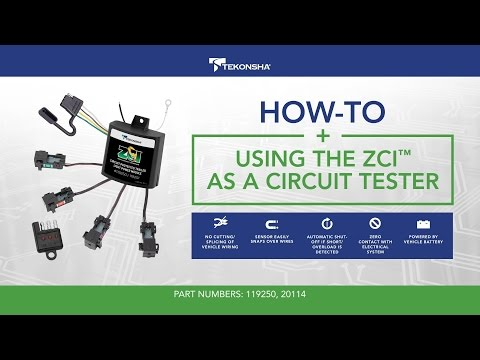 How To Use the Tekonsha® ZCI™: Zero Contact Interface as a Circuit Tester