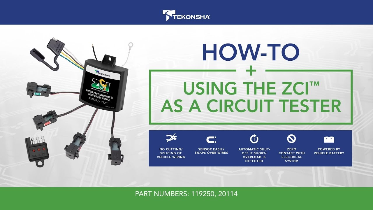 How To Use The Tekonsha Zci Zero Contact Interface As A Circuit Trailer Tester