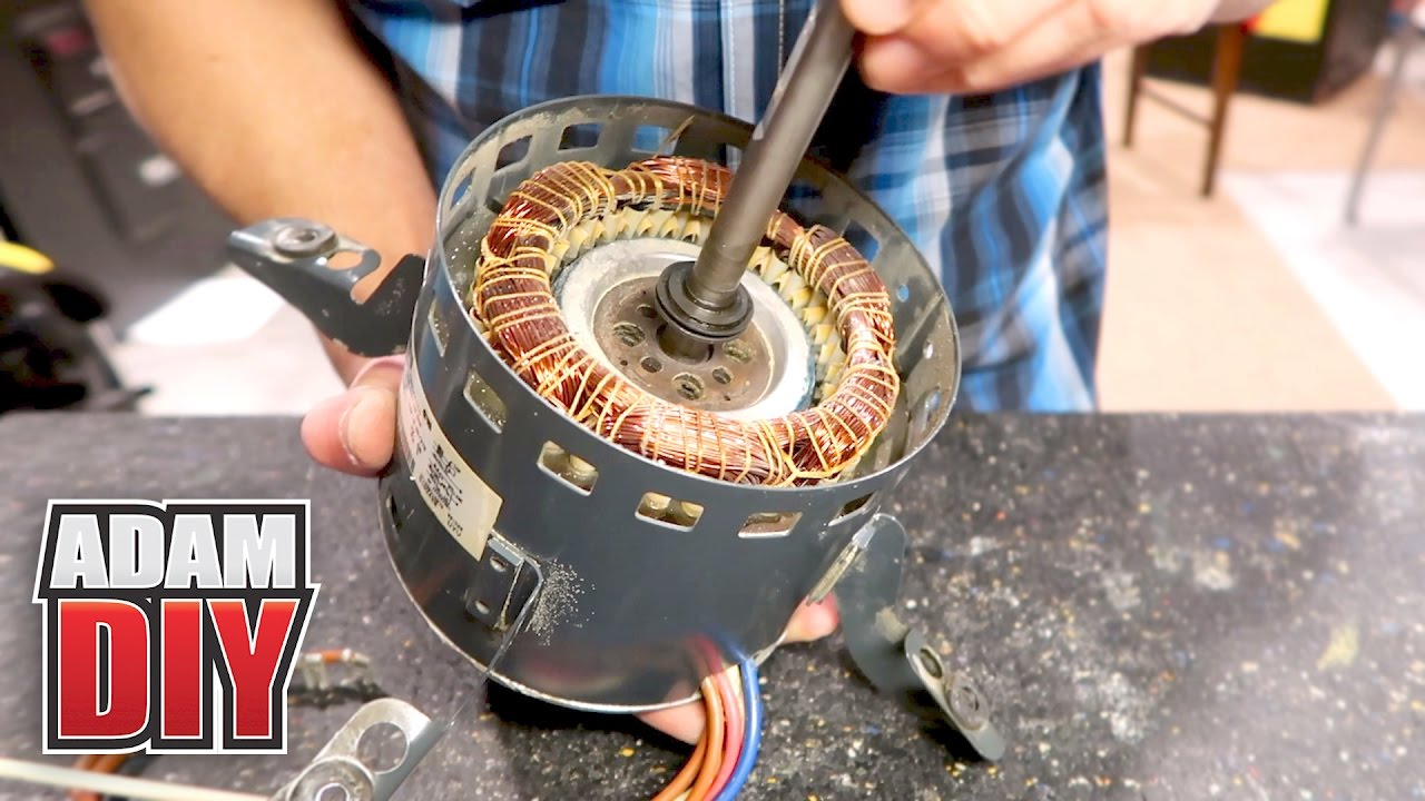 hight resolution of how to oil electric hvac fan motors with no port squeaky furnace repair youtube