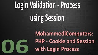 06 - PHP Session Login Process - Validation - Logout - Unset Session