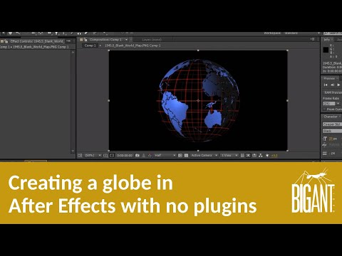 Creating a globe in Adobe After Effects