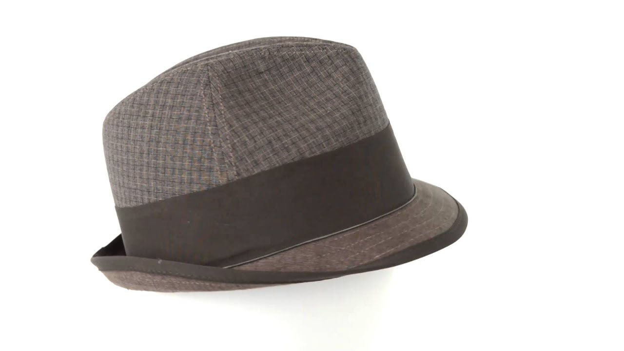 Stetson Fedora Hat - Linen-Cotton (For Men) - YouTube 9f56142fae1