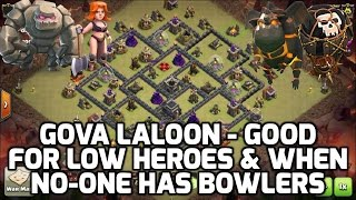 Clash of Clans: LOW HERO, NO BOWLER GOVALALO AIR POWER - DRAGONFLOWER BASE! | Mister Clash Gaming