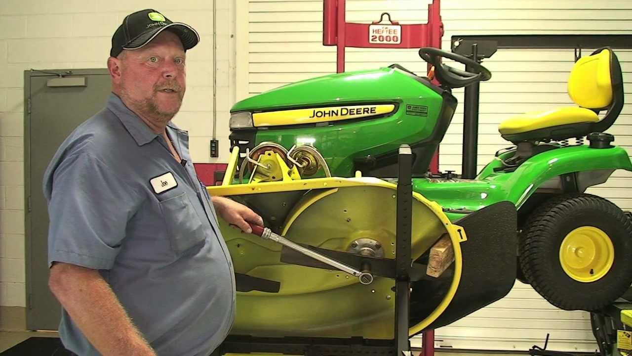 replacing belt on a x300 john deere lawn tractor youtube [ 1280 x 720 Pixel ]