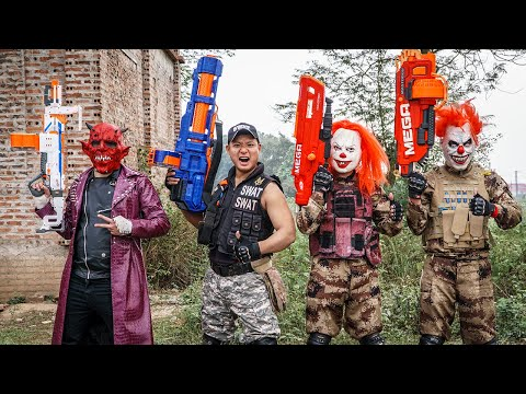 LTT Films : Swat Silver Flash Nerf Guns Fight Criminal Group Tiger Mask Bandits Diamond