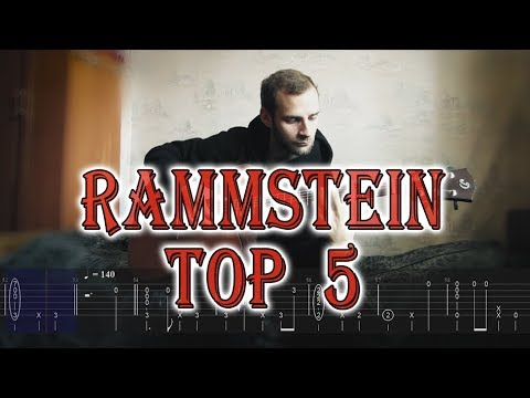 TOP 5 RAMMSTEIN SONGS (easy fingerstyle arrangements with tabs)
