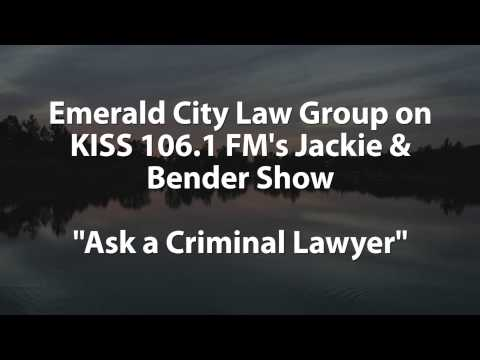 Ask a Criminal Lawyer: A Conversation with Jackie & Bender KISS 106.1 FM