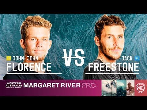John John Florence vs. Jack Freestone  - Round of 32, Heat 3 - Margaret River Pro 2019