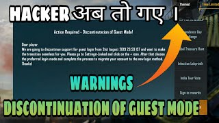 Warning Notice Action Required | Discontinuation Of Guest Mode | Link Your Guest Account