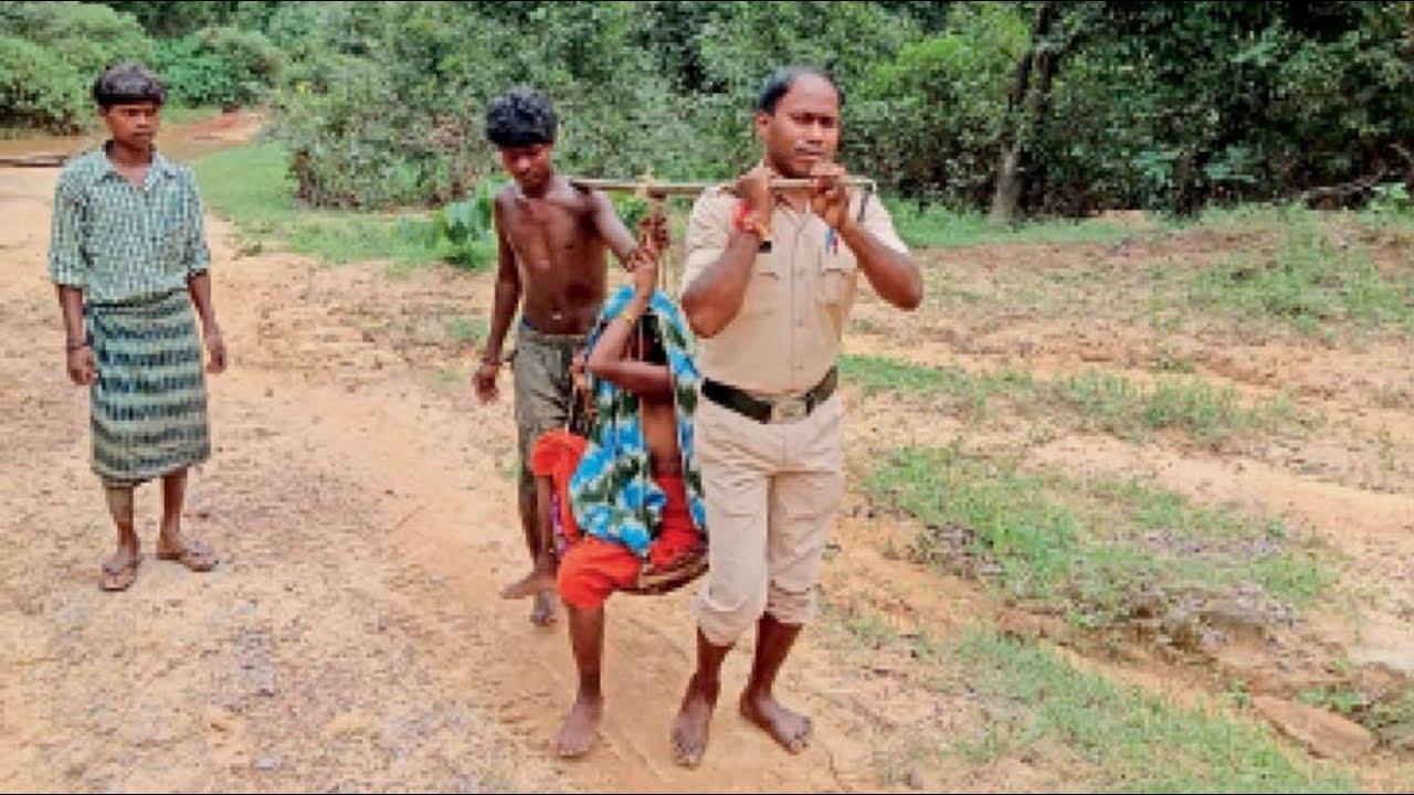 यही असली होरो, दर्द से तड़प रही महिला को सिपाही ने कांवड में बिठाकर पहुंचाया अस्पताल
