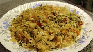 Постное блюдо - тушеная капуста без мяса очень вкусно, быстро, просто - как приготовить