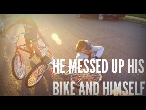 HE MESSED UP HIS BIKE AND HIMSELF