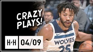 Derrick Rose Full Highlights Wolves vs Grizzlies (2018.04.09) - 13 Points!