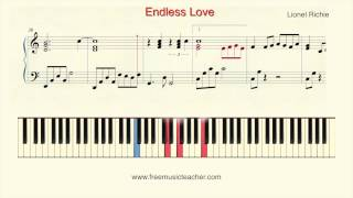 "How To Play Piano: Lionel Richie ""Endless Love"" Piano Tutorial by Ramin Yousefi"